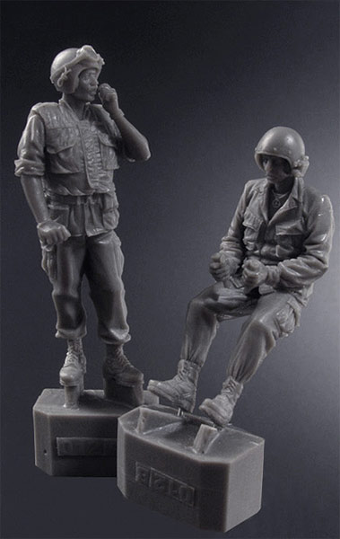 Scale Models <font><b>1</b></font>/ <font><b>35</b></font> U.S. tank Crewmen, <font><b>Vietnam</b></font> <font><b>war</b></font> soldier <font><b>figure</b></font> Historical <font><b>Resin</b></font> Model image