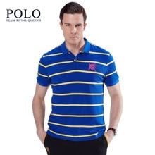 Royal Queen's Polo Team2017 summer new men's explosion models European men short sleeve Paul cotton men's casual short-sleeved