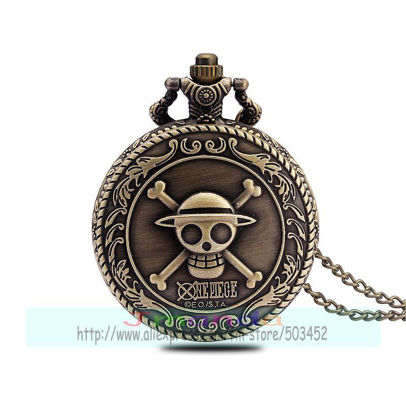 100pcs lot Skeleton style bronze color pocket watch quartz necklace pocket watch wholesale clock for unisex