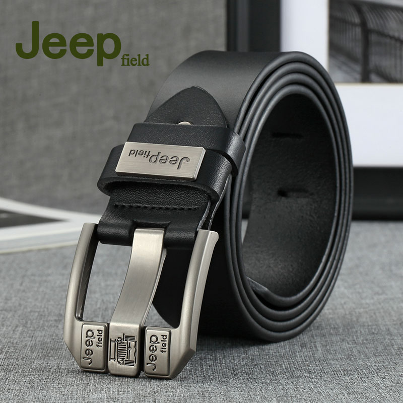 Jeep field 2018 men   belt   cow genuine leather luxury strap male   belts   for men new fashion classic vintage pin buckle dropshipping