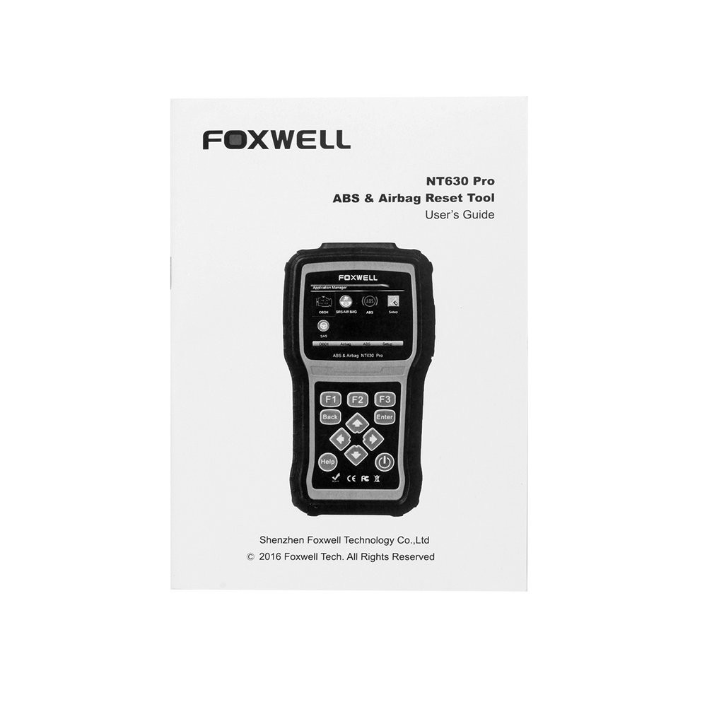 ABS Airbag Air bag SAS Reset Tool Foxwell NT630-12