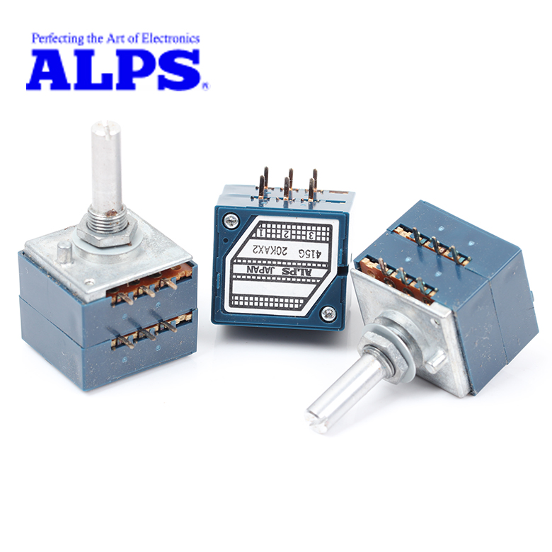 ALPS 100KAX2 Potentiometer Slotted 25MM x 6MM Shaft  RK27