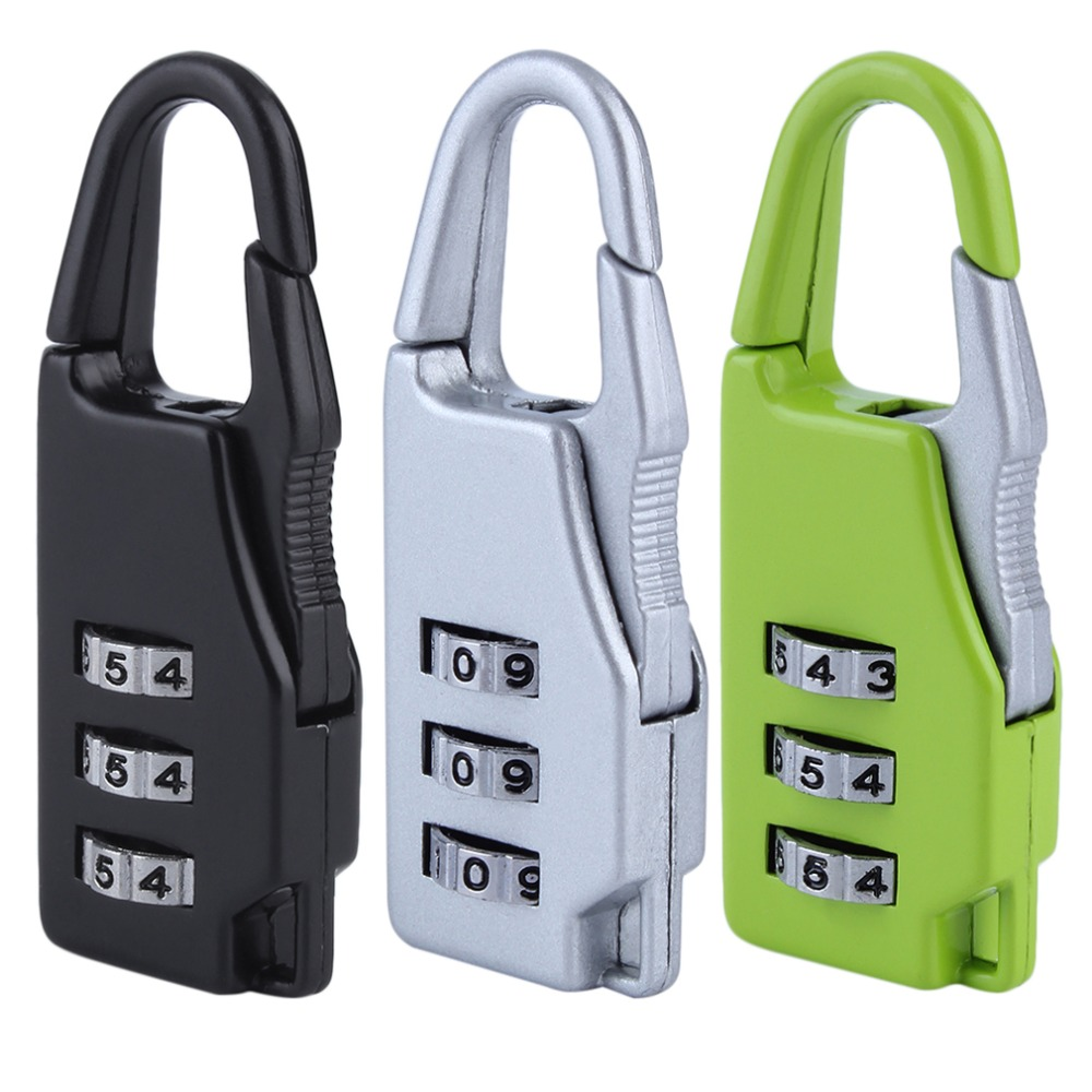 Security 3 Combination Travel Suitcase Luggage Bag Code Lock Zipper Padlock  hot store Замок