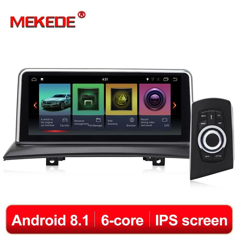 Lecteur multimédia de voiture MEKEDE 6 Core Android 8.1 voiture gps navigation radio pour BMW X3 E83 2004-2010 voiture d'origine sans écran