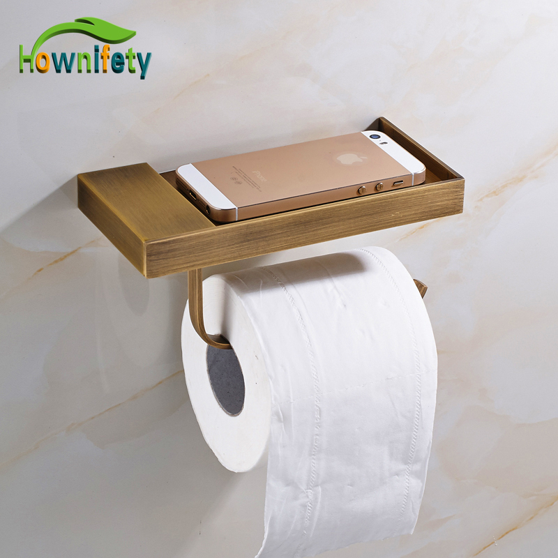 Antique Barss Bathroom Toilet Paper Holder with Phone Holder Solid Brass Bathroom accessories Wall Mount kenzo туалетная вода pour homme 100 ml