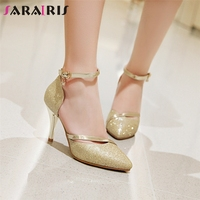 SARAIRIS 2019 New Arrivals Spike High Heels Pointed Toe Pumps Women Shoes Woman Sliver Gold Date Wedding Party Pumps