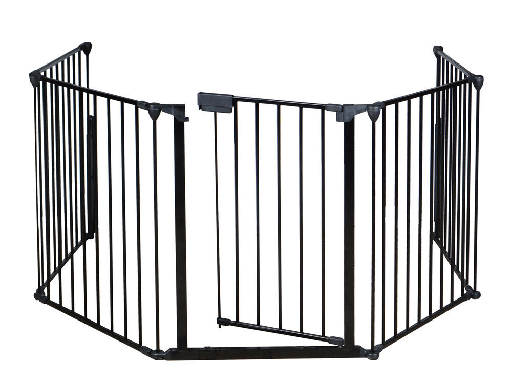 Baby Safety Fence Gate Bbq Metal Fire Gate Fireplace Pet