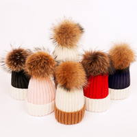 V TREE Family Matching Outfits Mother Kids Winter Baby Hats Knitted Cap For Girls Mom And