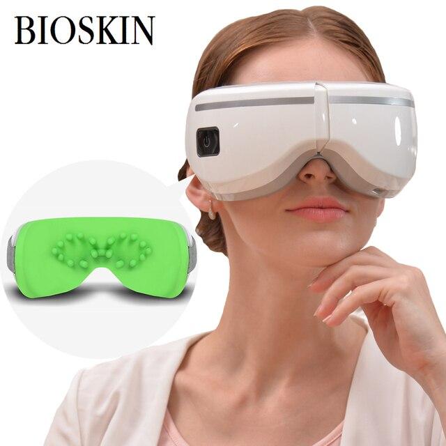 BIOSKIN Inteligente Sem Fio Eye Massager Eye Care Saúde Máquina de Música Dispositivo de Proteção Visual & Vibração Relaxamento de Enfermagem