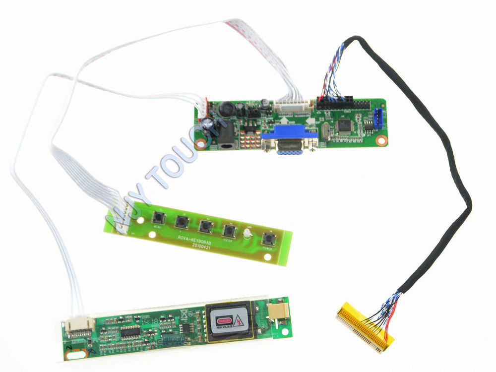 Free Shipping V.M70A VGA LVDS converter LCD Controller Board Kit for 15.6 inch LTN156AT01 1366X768 CCFL LVDS Video Board