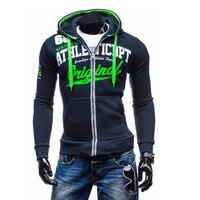 2016 Hoodies Men Sudaderas Hombre Hip Hop Mens Brand Letter Hooded Zipper Hoodie Sweatshirt Sport Suit