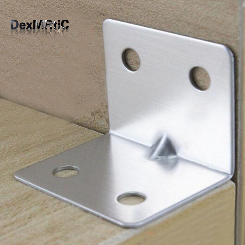 30pcs 28*28*35mm Fixed furniture Corner Brackets Stainless steel 90 degrees Connection accessories angle iron for furniture ned 40x40x20mm practical stainless steel corner brackets joint fastening right angle 2mm thickened furniture bracket with screws