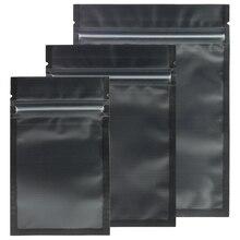 متنوعة الأحجام ماتي واضح/أسود/أسود الرمز البريدي قفل أكياس 100 قطعة بولي ايثيلين البلاستيك شقة زيبلوك حزمة حقيبة