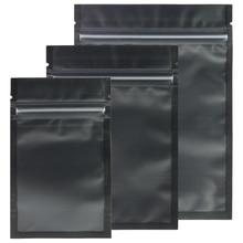 Diverse Maten Matte Clear/Zwart/Zwart Zip Lock Zakken 100 Pcs Pe Plastic Platte Ziplock Pakket Tas