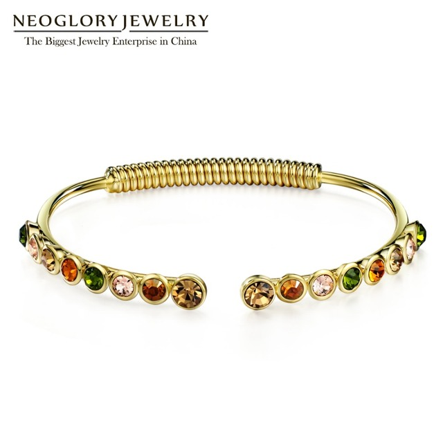 Neoglory Charm Colorful Bangles   Bracelets For Women Austria Rhinestone  Hand Female Jewelry Wholesale 2018 MS 039770216aec
