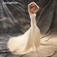 Darlingoddess Vestidos De Novia 2018 Bridal Dresses Vintage Lace Mermaid Wedding Dress Sweetheart Champagne Boho Wedding Gowns