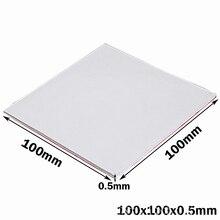 200PCS 100*100*0.5mm 0.5mm thickness  White CPU GPU VGA Led Thermal Pad Heatsink Cooling Conductive Silicone Pad