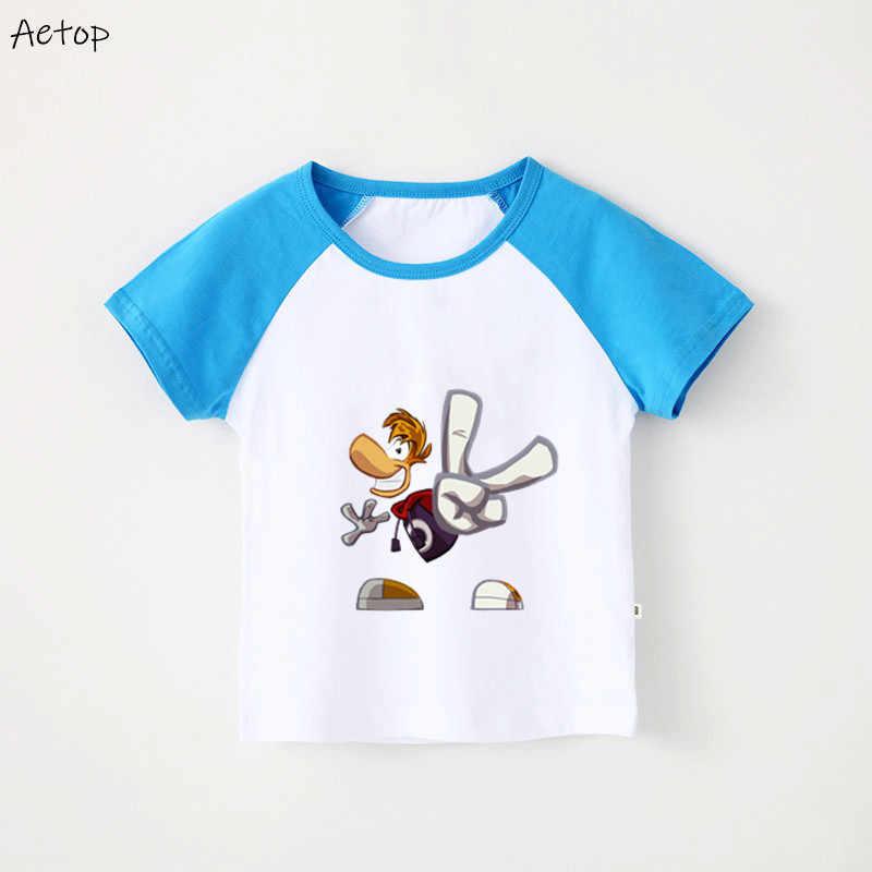 ファッション漫画 Rayman は伝説ボーイズガールズ Tシャツ子供の綿の Tシャツの子夏プリント服 shrt トップス漫画 tシャツ