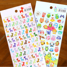 1Pcs Giraffe Uil Print Memo Sticker Leuke Tekening Markt Dagboek Transparante Scrapbooking Kalender Album Decor Sticker(China)