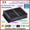 Melhor preço De Alumínio ITX Fanless Industrial Mini PC Windows 10 Robusto caso intel core i5 4200u htpc tv box wifi rs232 usb VGA