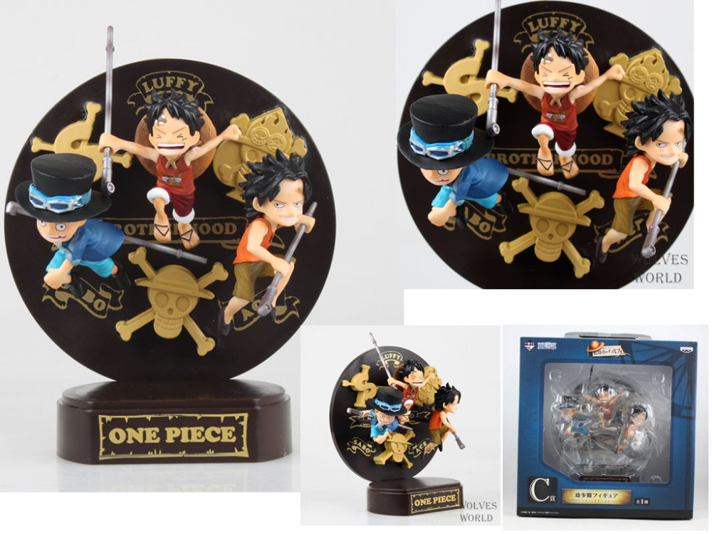 Huong Anime One Piece Sabo Luffy Ace PVC Action Figuras Doll Kids Toys Brinquedos Models With Retail Box.