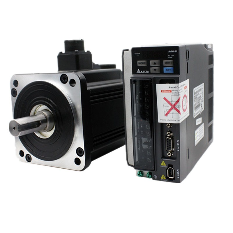 CNC 200W AC Servo Motor + Drive kits 220V 0.64NM 60mm With 3M Cable ECMA-C30602ES+ASD-A0221-AB original new delta 0 2kw 200w servo motor set asd a0221 ab ecma c30602rs 60mm 3000rpm 220v