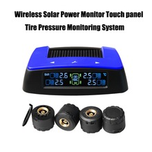 Tire Stress Monitoring System Photo voltaic Energy Monitor Contact panel Automobile TPMS with 4pcs Exterior sensor
