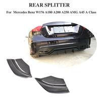 For W176 Carbon Fiber & FRP Rear Bumper Side Splitters Spoiler Canards for Benz A Class A180 A200 A250 A45 AMG 2013 2016