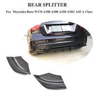 For W176 Carbon Fiber & FRP Rear Bumper Side Splitters Spoiler Canards for Benz A Class A180 A200 A250 A45 AMG 2013 2016