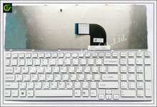 Russian RU Keyboard for Sony VAIO SVE15 SVE-15 SVE 15 White keyboard 149032851RU AEHK57002303A MP-11K73SU-920 with frame