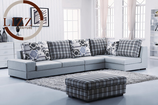Australia Home Furniture L Shape Fabric Sofa Set B1009-in Living ...