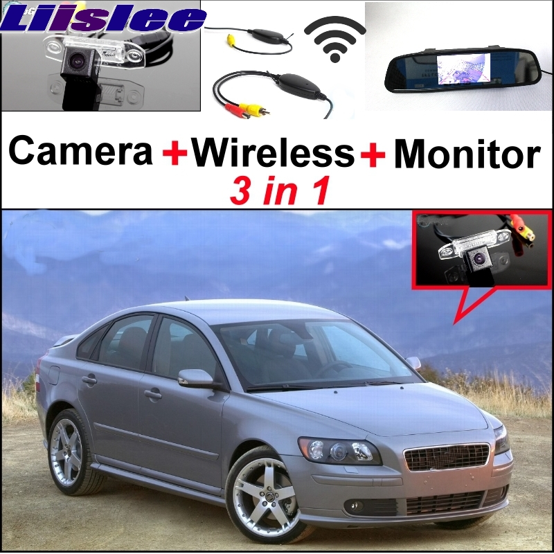 Liislee Special Rear View Wifi Camera + Wireless Receiver + Mirror Monitor Easy Back Parking System For Volvo S40 S40L V40 V50 wireless pager system 433 92mhz wireless restaurant table buzzer with monitor and watch receiver 3 display 42 call button