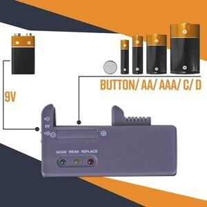 Image 4 - حافظة بطاريات حامل مُنظِم مع فاحص بطارية العلبة علبة برف صندوق حامل بما في ذلك مدقق البطارية ل AAA AA C D 9V