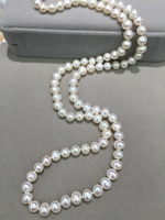 8 9MM Long Fresh Water Pearl Necklace Real Pearl White Multi Color 80CM Accept Order Any