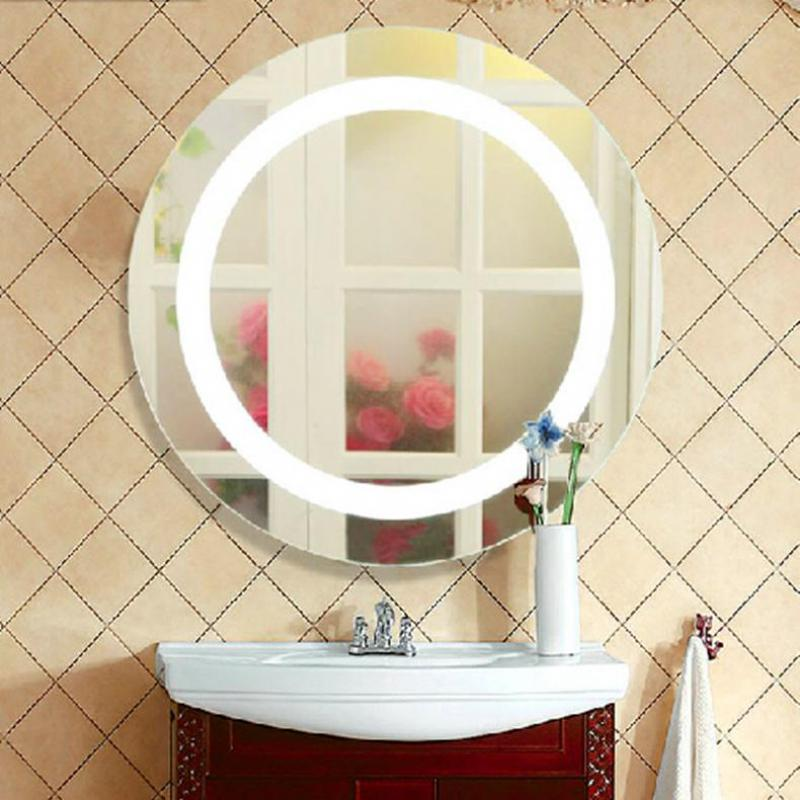 Round Led Makeup Mirror Light Mirror Led Lamp for Bedroom ...