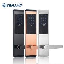 Cerradura digital electrónica de seguridad, cerradura de seguridad digital sin llave Puerta tarjeta inteligente contraseña del teclado código Pin cerradura de puerta para Smart Home