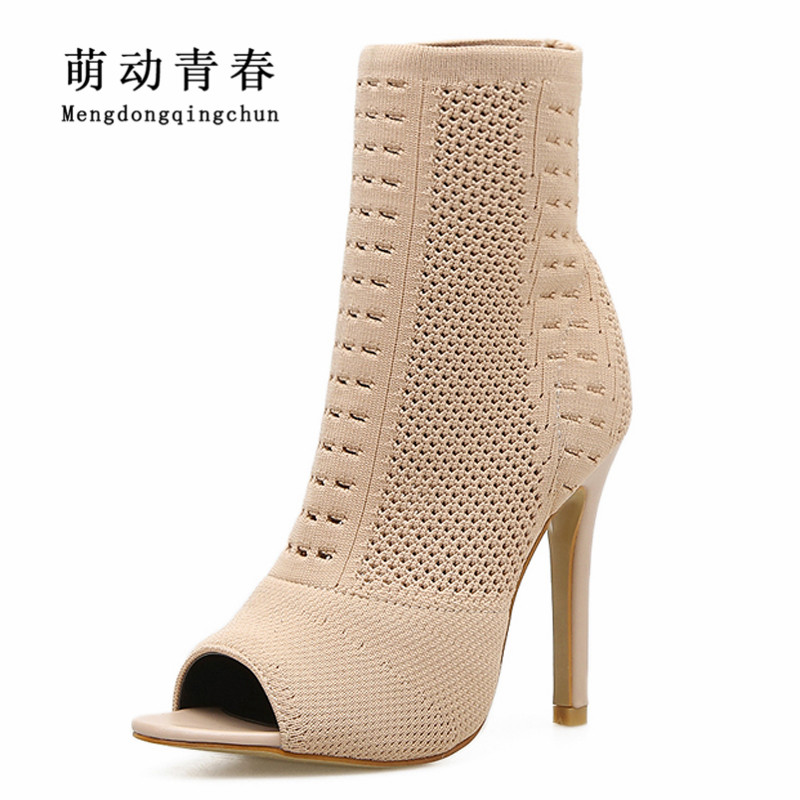 New Women Pumps Women Peep Toe Fashion Thin Heel High Heels Shoes Fashion Gladiator Women Casual Sock High Heel Pumps fashion women pumps gladiator peep toe women high heels shoes women casual thin heel buckle strap summer high heel pumps