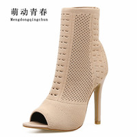New Women Pumps Women Peep Toe Fashion Thin Heel High Heels Shoes Fashion Gladiator Women Casual