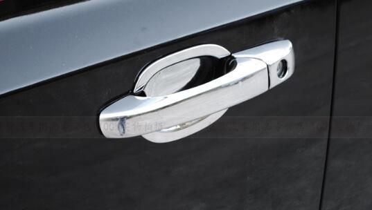 Maior estrela ABS cromado 8 pcs cobertura maçaneta da porta do carro + 4 pcs porta tigela alça para Dodge Caliber 2007-2012