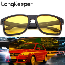 Night Vision Driving Sunglasses Men Brand Yellow Lense Glass