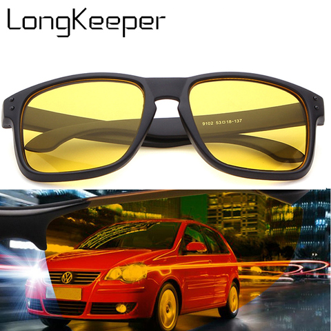 Night Vision Driving Sunglasses Men Brand Yellow Lense Glasses Goggles Vision Night Glasses for Driving Yellow Sunglasses Male Pakistan