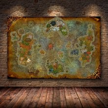 Unframed The Poster Decoration Painting of World of Warcraft 8.0 Map on HD Canvas Wall Pictures for Living Room oil painting(China)