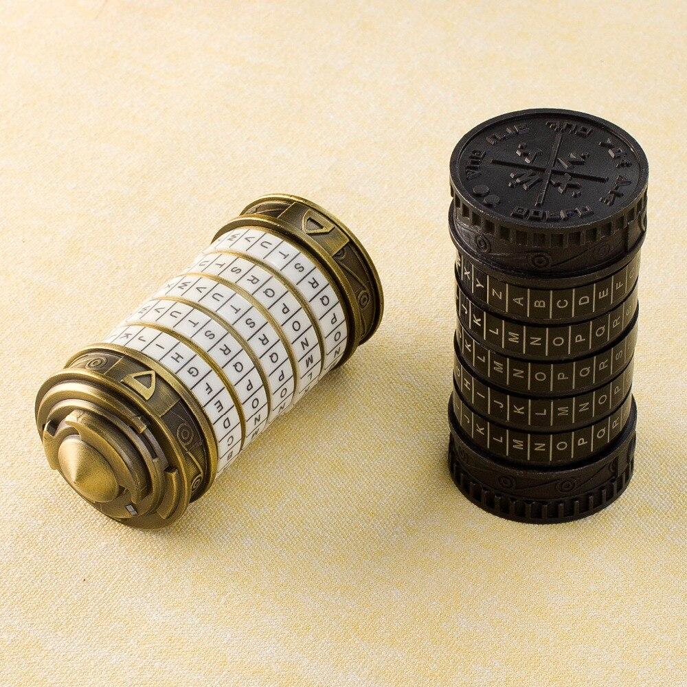 Tout métal Cryptex saint valentin présent noël mariage amoureux se marier cadeau Educationa serrures idées jouets amusants Leonardo da Vinci - 2