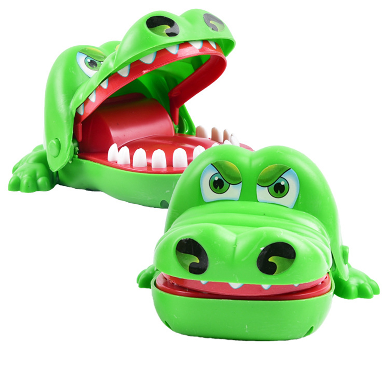 Mouth Dentist Bite Finger Toy Large Crocodile Pulling Teeth Bar Games Pirate Bucket Toys Kids Funny Toy For Children Gift