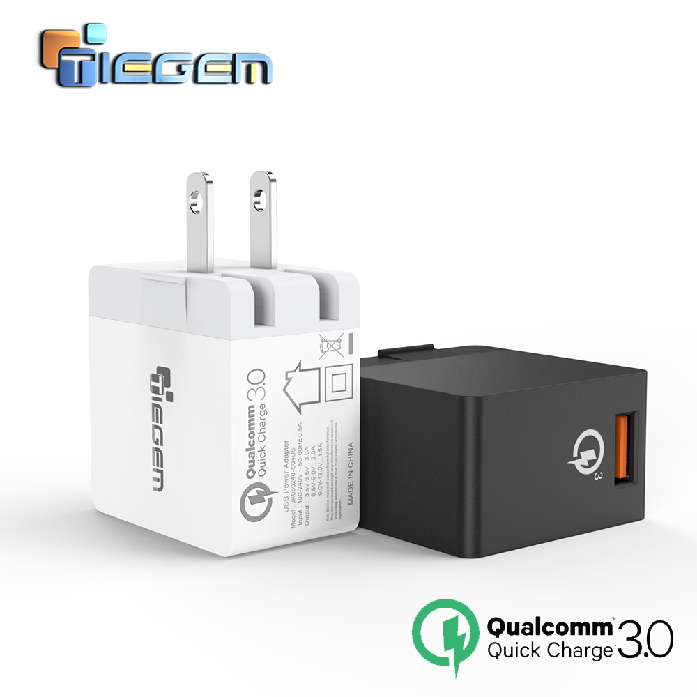 TIEGEM 18W Fast Quick Charge 3.0 USB Wall Chargers