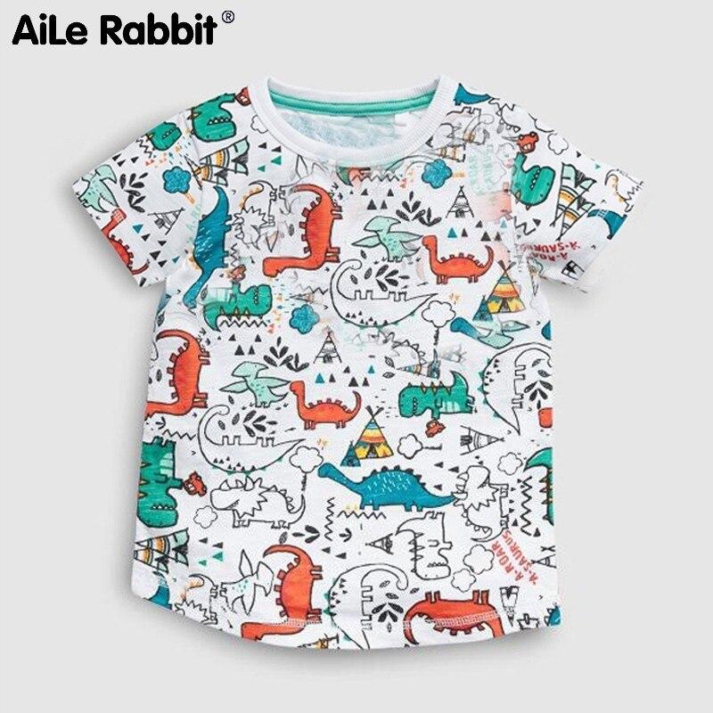 Garment T-T-Shirt Short-Sleeve Cartoon-Pattern Children's Catamite T-Pity