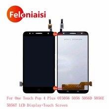 Купить онлайн Для Alcatel One Touch Pop 4 Plus OT5056 5056 5056D 5056E 5056 т ЖК Дисплей с Сенсорный экран планшета Панель сборки выполните