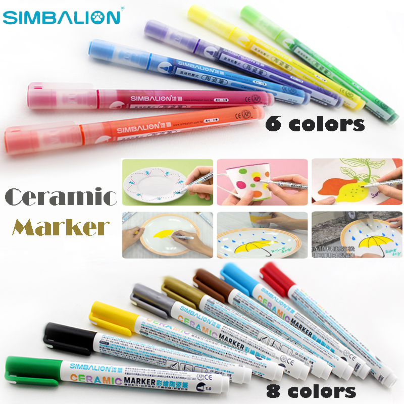 купить simbalion ceramic marker direct liquid paint sanford sharpie markers silver gold white black metallic pens for Doodle glass Mug дешево