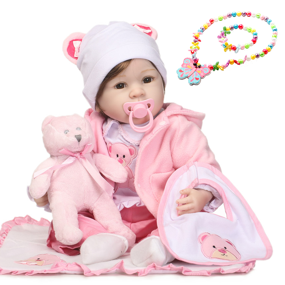 Reborn toddler Girl princess Doll 2255cm silicone reborn baby doll vinyl newborn babies alive l.o.lsurprises doll gift toysReborn toddler Girl princess Doll 2255cm silicone reborn baby doll vinyl newborn babies alive l.o.lsurprises doll gift toys