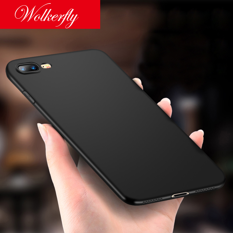 Wolkerfly New Luxury Back Matte Soft Silicon Case for iPhone 7 Cases 7 Plus 8 Case Full Cover For iPhone 8 8 Plus Phone Cases
